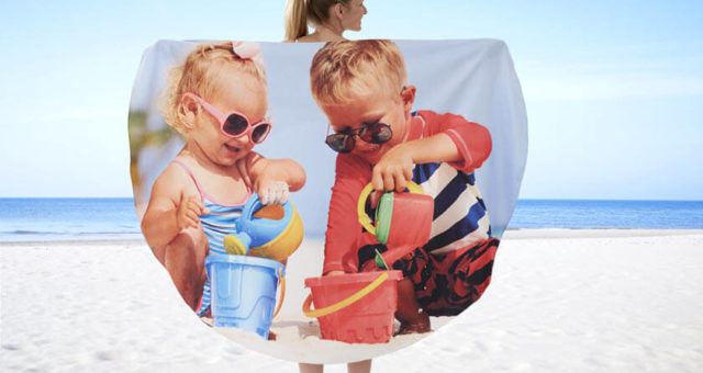 Personalized Photo Beach Towels