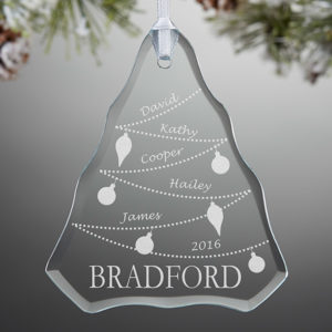 custom glass ornament