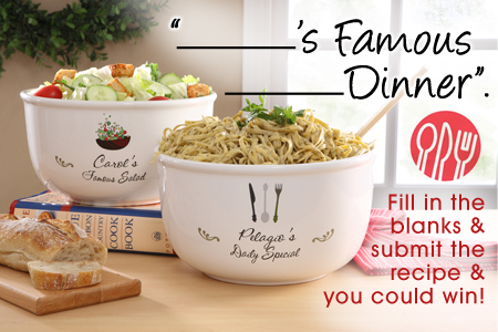Your Special dish blog         s Famous          Dinner    Fill in the Blanks & Win!