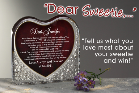 Sweetie Blog Tell Us About Your Sweetie & Win!