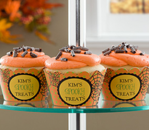 cupcakewrappers 300x263 Tips & Tricks to Make Your Halloween Party Spook tacular!