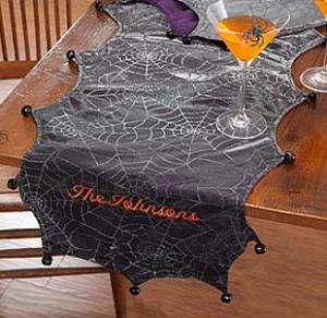 tablerunner 300x291 Tips & Tricks to Make Your Halloween Party Spook tacular!