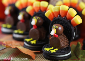 oreoturkey 300x215 Turkey Day Tips and Treats Everyone Will Love!