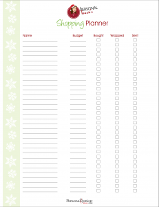 shoppingplanner 231x300 How to Stay Sane & Organized While Christmas Shopping