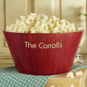 Custom popcorn bowl
