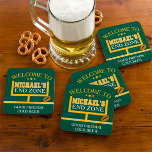 endzone coasters 300x300 How To Host a Winning Super Bowl Party!