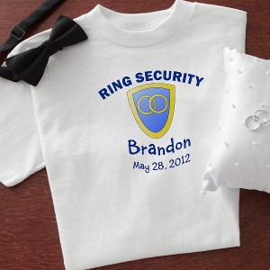 ringsecuritytshirt 300x300 Wedding Party Gift Guide: Ring Bearer Edition