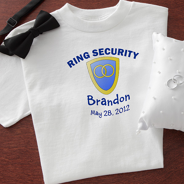 ringsecuritytshirt 300x300 Wedding Party Gift Guide Ring Bearer Edition