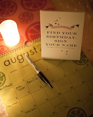 wedding calendar guest book idea