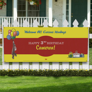 curious george banner 300x300 Make It A Curious George Birthday Party!