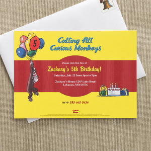curiousgeorgeinvite 300x300 Make It A Curious George Birthday Party!