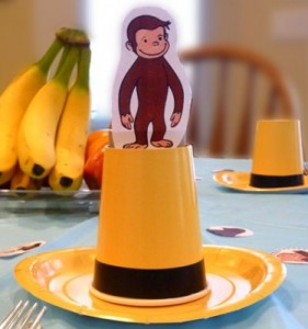curiousgeorgepartyhat 281x300 Make It A Curious George Birthday Party!
