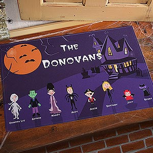 halloweendoormat Quick & Easy Halloween Decorating Tips