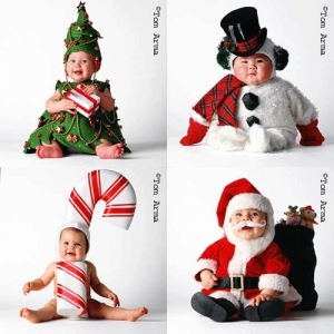 babycostumes 300x300 Ideas For Cute & Clever Christmas Card Photos