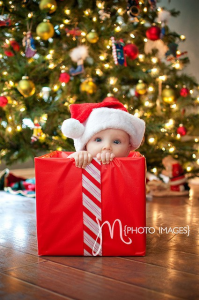 babyinbox 199x300 Ideas For Cute & Clever Christmas Card Photos