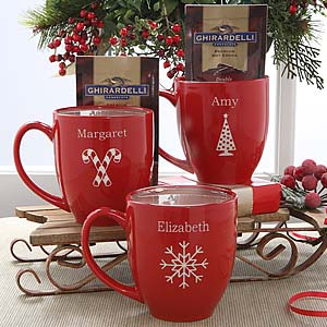 custom holiday mugs