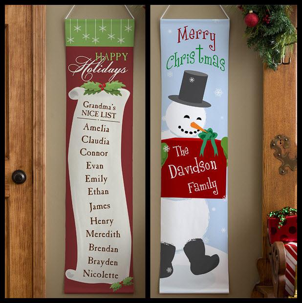 custom Christmas banner