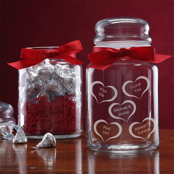 heart candy jar