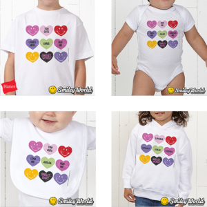 Conversation Hearts Baby Clothes