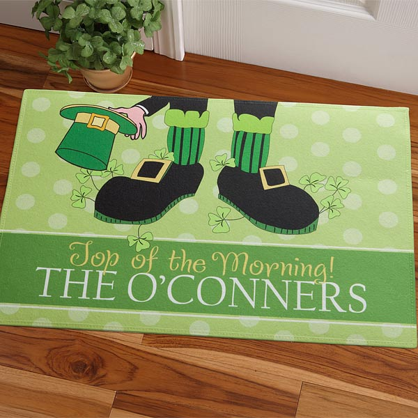 st patricks day doormat