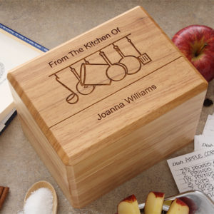 recipe box1 300x300 Wedding Gift Guide: Ideas For Throwing a Recipe or Kitchen Themed Bridal Shower