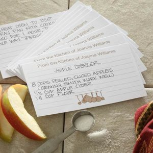 recipe cards 300x300 Wedding Gift Guide: Ideas For Throwing a Recipe or Kitchen Themed Bridal Shower