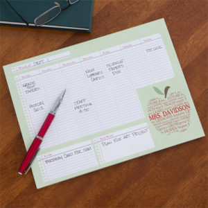 calendarpad 300x300 Personalized Stationary is the New Popular Teacher Gift