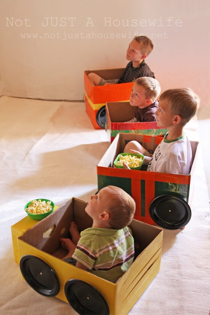 Drive-in movie at home - Not Just A Housewife blog