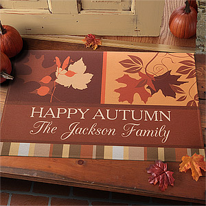 Custom Fall Doormat