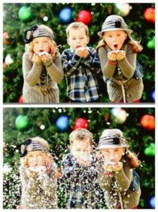 cardidea6 224x300 Ideas for Cute & Clever Christmas Card Photos   Part 2!