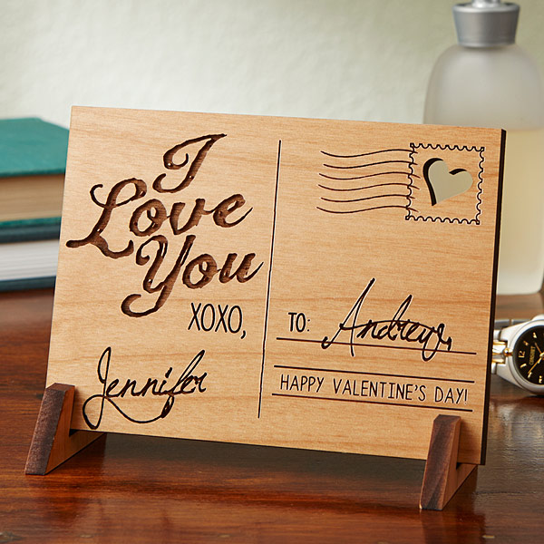 custom love postcard