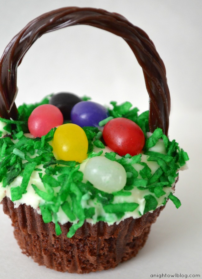 Easter Basket Cupcakes 2 Easter Basket Cupcakes are Sure to be a Hit!