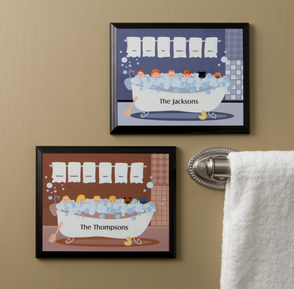 Bathtub Family Characters Wall Plaque