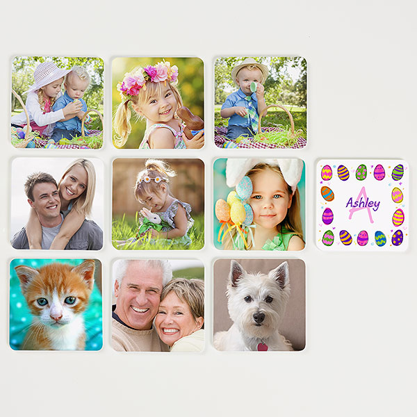 Custom Easter Photo Memory Game for Kids
