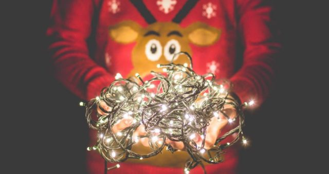 Christmas Lights Photo Idea