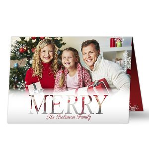 Folded Christmas Photo Card