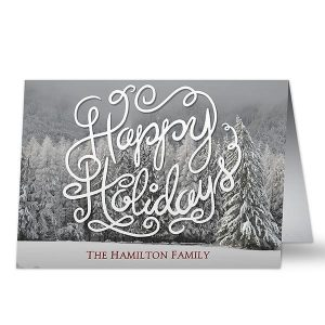 Happy Holidays Custom Card