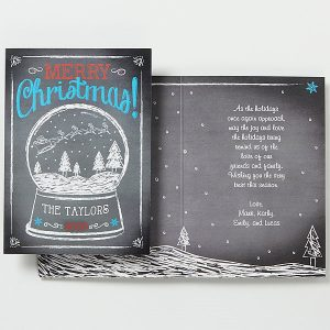 Custom Snow Globe Christmas Card
