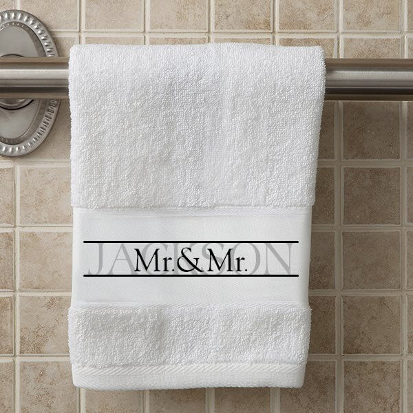 Personalized Towels Wedding Gift