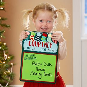 All I Want For Christmas...Personalized Dry Erase Sign