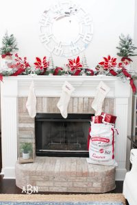 Christmas Mantel Decor Idea