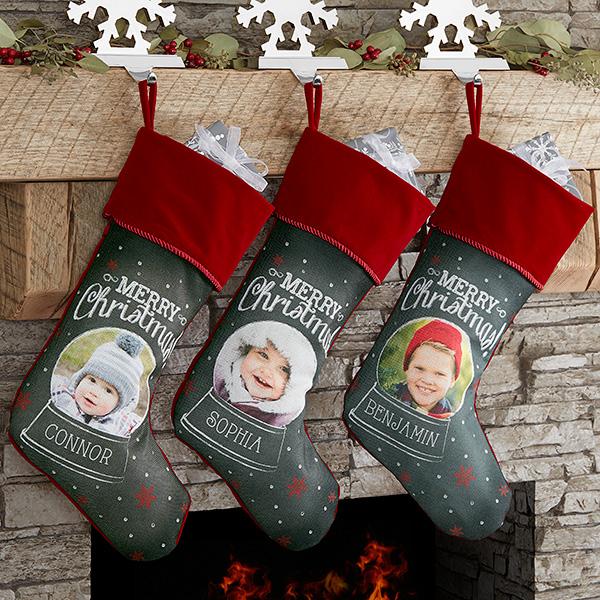 Christmas Photo Stockings