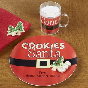 Cookies For Santa Personalized Mug and Plate Set