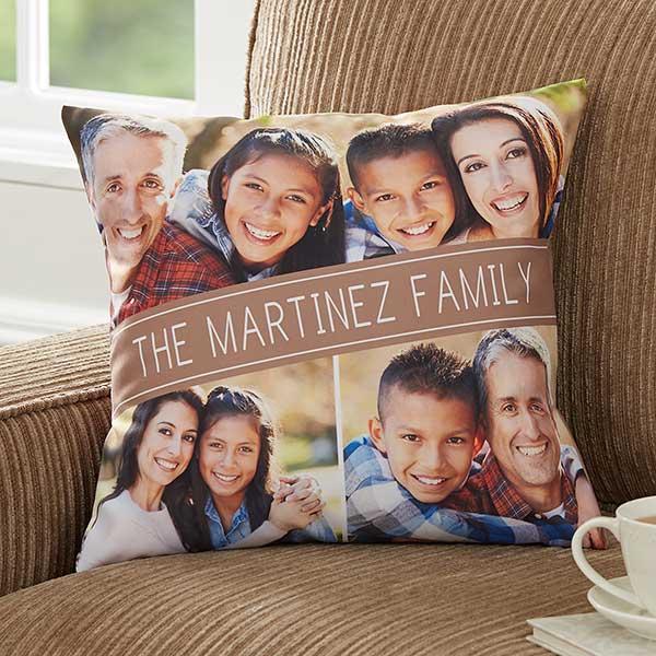 Family Photo Pillow