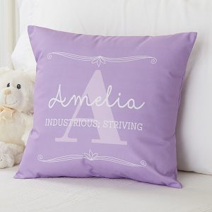 Kids Name Meaning Pillow