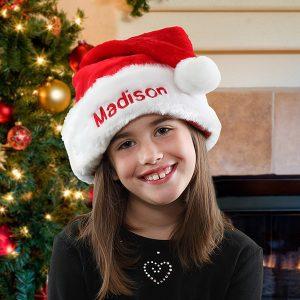 Plush Velvet Personalized Santa Hat