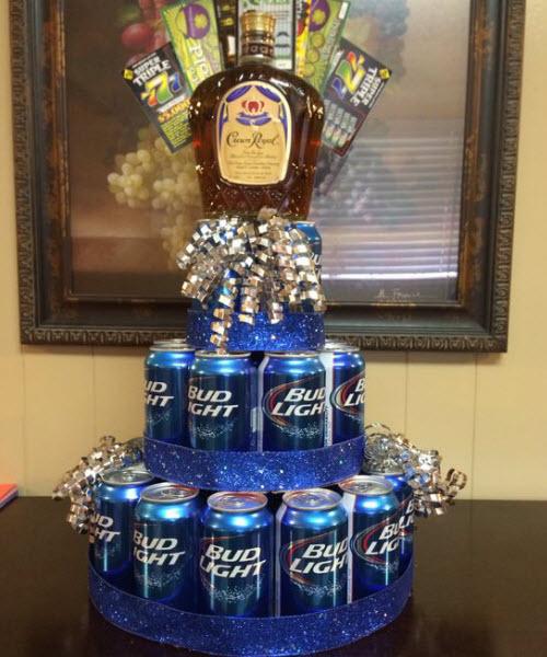 21st birthday booze cake