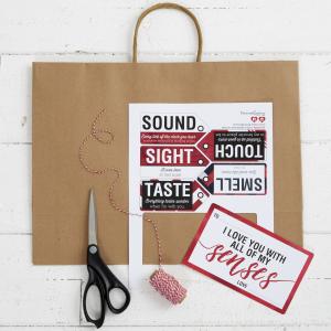 5 Senses Gift Free Printable