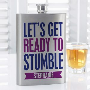 Custom Birthday Flask