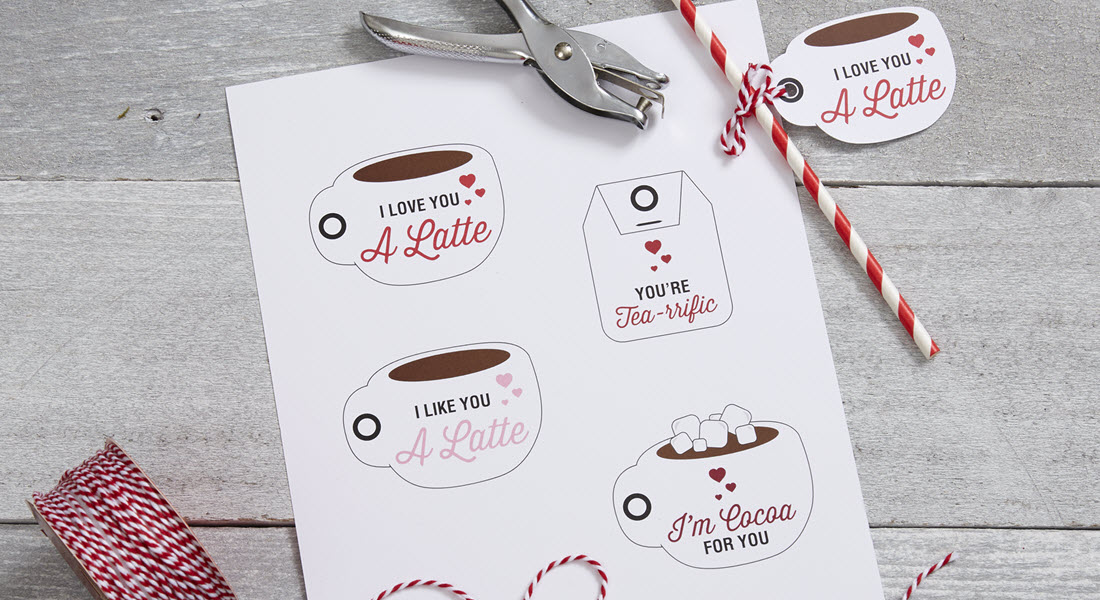 Love You Latte - Valentine's Day Printable